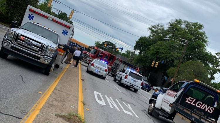 COMET bus involved in traffic accident in downtown Columbia, injuries reported