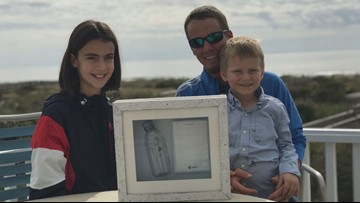 Message in a bottle leads to across-the-ocean meeting between a French girl, NC man