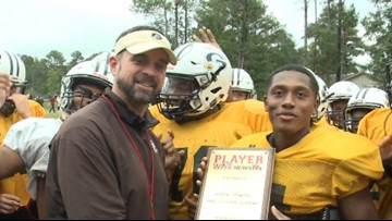 Kyser Samuel is the Player of the Week