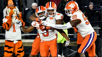 Clemson knocks out No. 17 BC 27-7 to win division