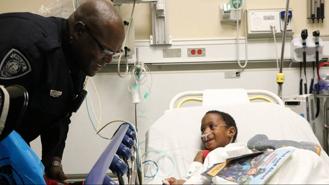 Chance meeting becomes touching moment for 4-year-old patient and Sumter officer