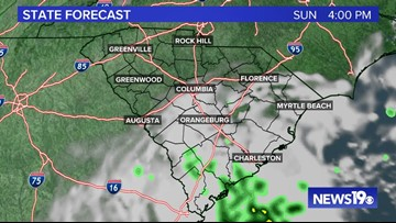 Mostly sunny and pleasant Sunday