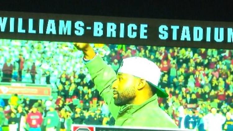 JBJ recognized at Williams-Brice Stadium