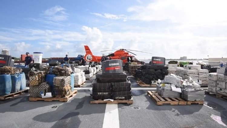 U.S. Coast Guard offloads almost 20 tons of cocaine in South Florida