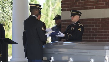 'Everyone deserves honor and respect': Community lays homeless veteran to rest at Fort Jackson