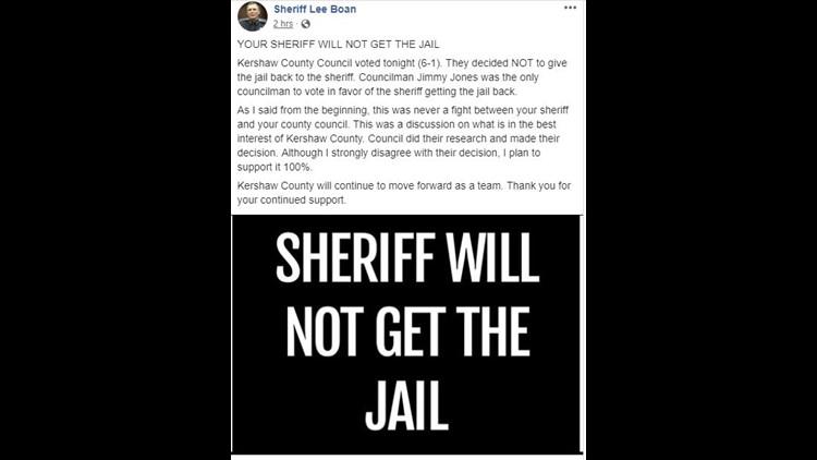 Sheriff Lee Boan Facebook post