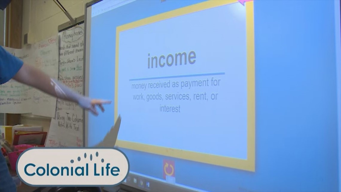 Colonial Life helps with financial education in the classroom