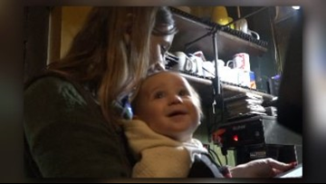 Greensboro Mom Straps On Baby To Wait Tables During Snow Storm