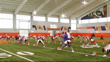 Clemson kicks off bowl practice