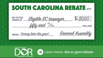 $50 checks going out to over 1 million people in South Carolina