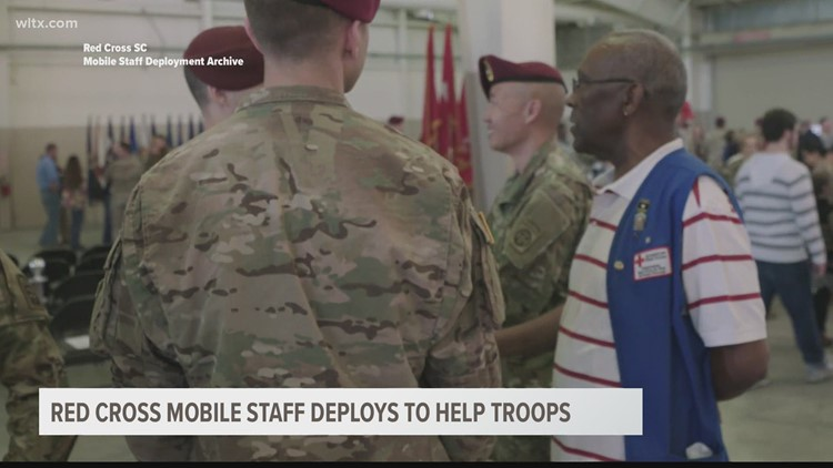 Red Cross mobile staff deploys to help troops