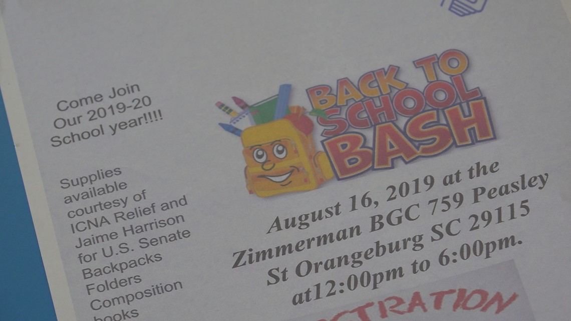 Back-to-school bash to give away school supplies in Orangeburg