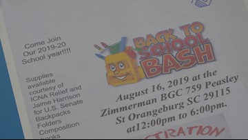 Back-to-school bash to give away school supplies in Orangeburg
