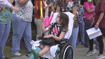 8 year-old celebrates recovery with bubble parade after being injured in a tornado