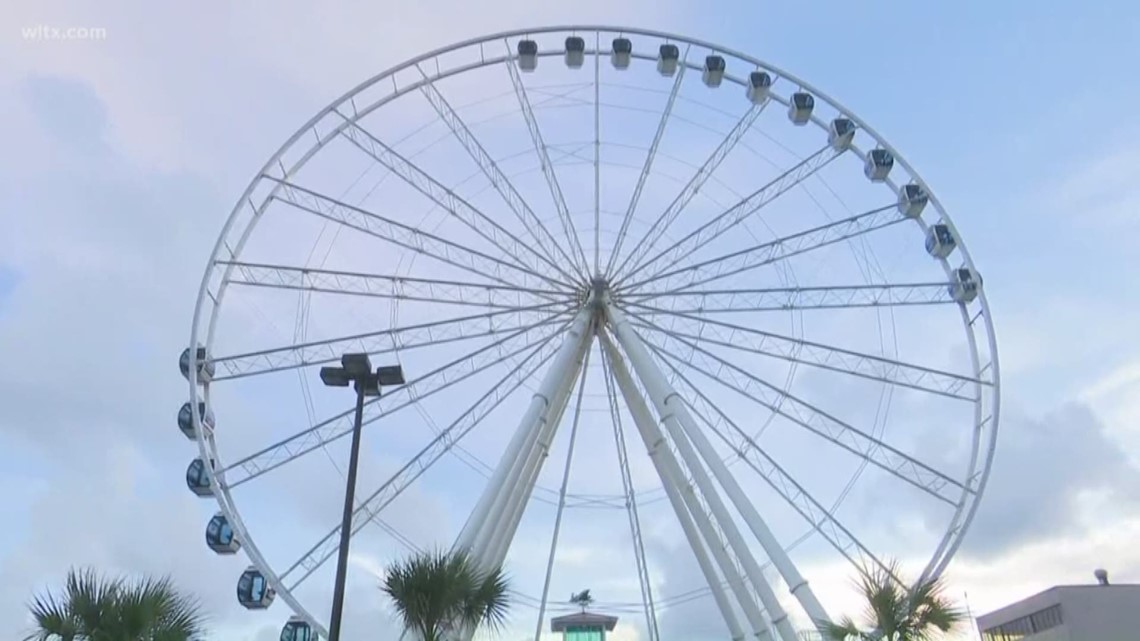 Gondolas Removed From Skywheel In Myrtle Beach Due To Hurricane Florence Wltx