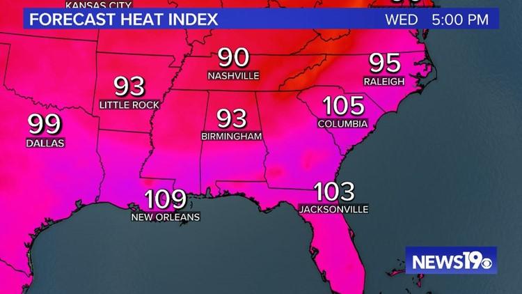 Heat Index Forecast