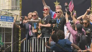 Women's World Cup parade: U.S. team ticker tape parade