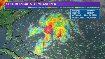Subtropical Storm Andrea forms, first Atlantic storm of 2019