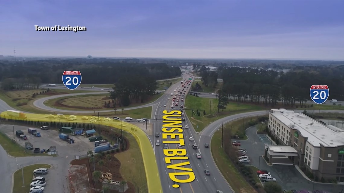 Changes coming to Sunset Boulevard exit off of I-20
