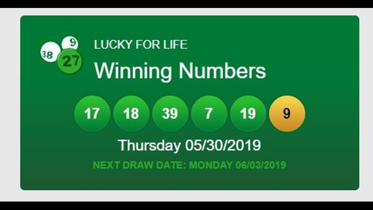 It could be you! Winning numbers drawn in $25,000 a year for life SC