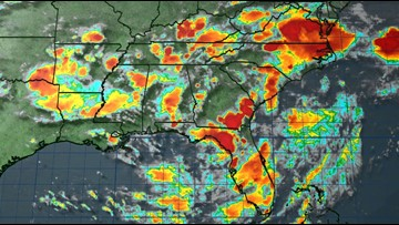 Disturbance in Southeast has 80 percent chance of tropical development