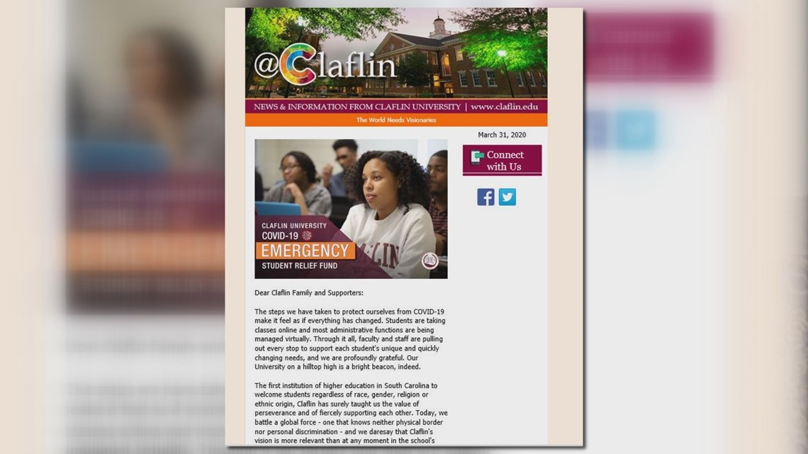 Claflin University looks to set up COVID-19 emergency fund for students, asks for donations
