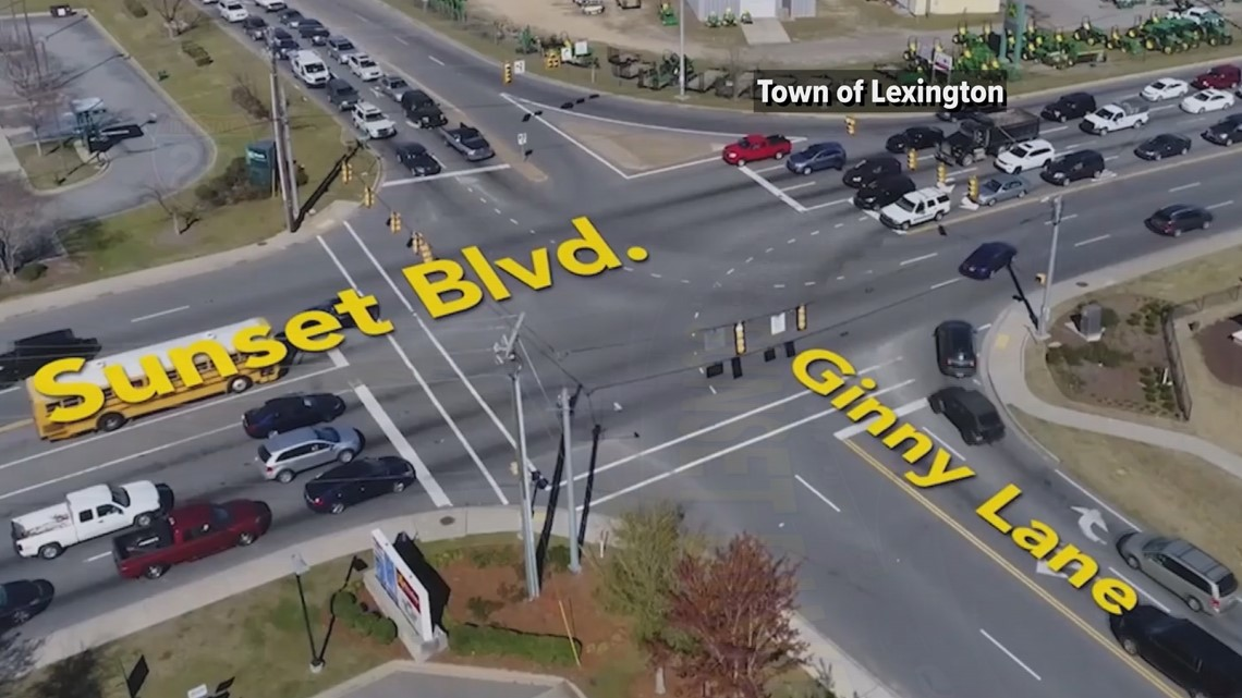 New lane changes for busy Lexington intersection off Interstate 20