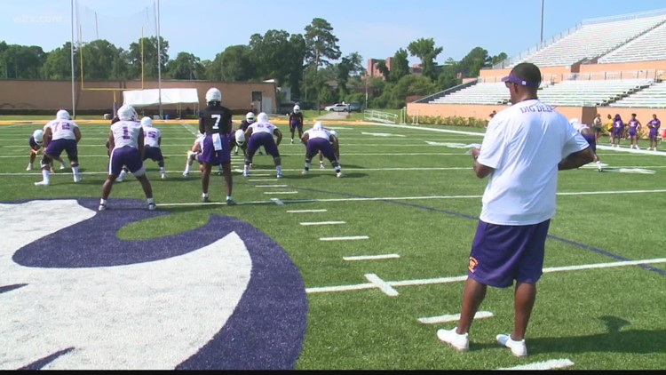 Chennis Berry leads his first preseason at Benedict Colleger