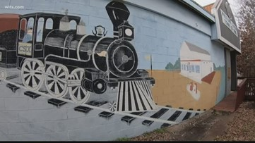 Irmo mural being torn down