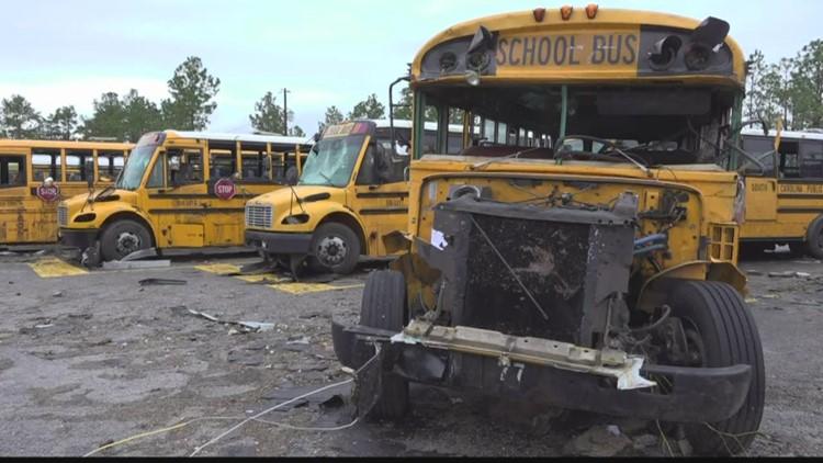 Tornado destroys Kershaw's North Central high school