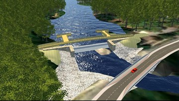 New Gibson Pond Dam design features walkway, fishing piers