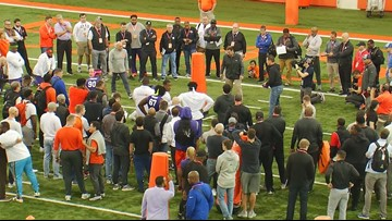 Pro Day at Clemson draws a crowd