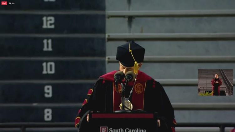USC President calls graduates 'newest alumni from the University of California'