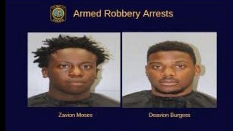Allen University students rob Benedict student