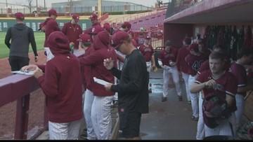 USC baseball holds open practice