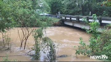 High waters at Corley Mill Road in Lexington Co.