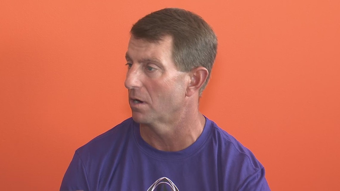 Dabo makes statement on the status of Fred Davis