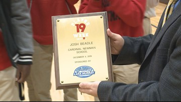Josh Beadle is the News19 Player of the Week