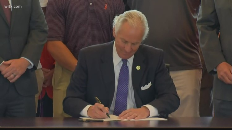 Governor McMaster signs bill to pay college athletes