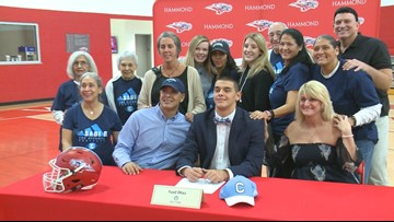 Hammond linebacker is excited about signing with The Citadel