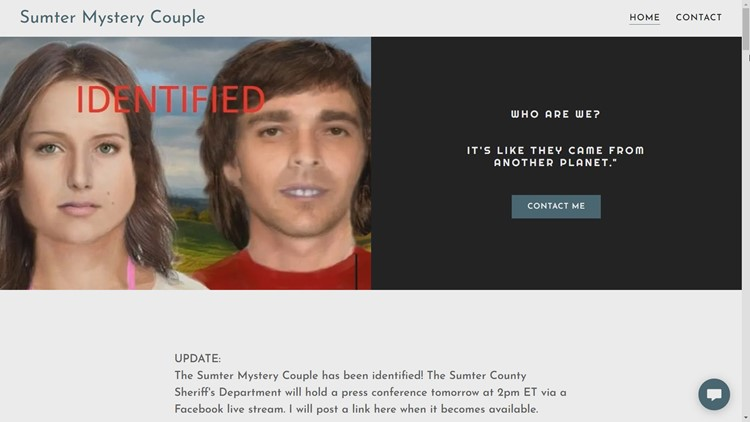 Upstate man credited with helping identify John and Jane Doe in Sumter County