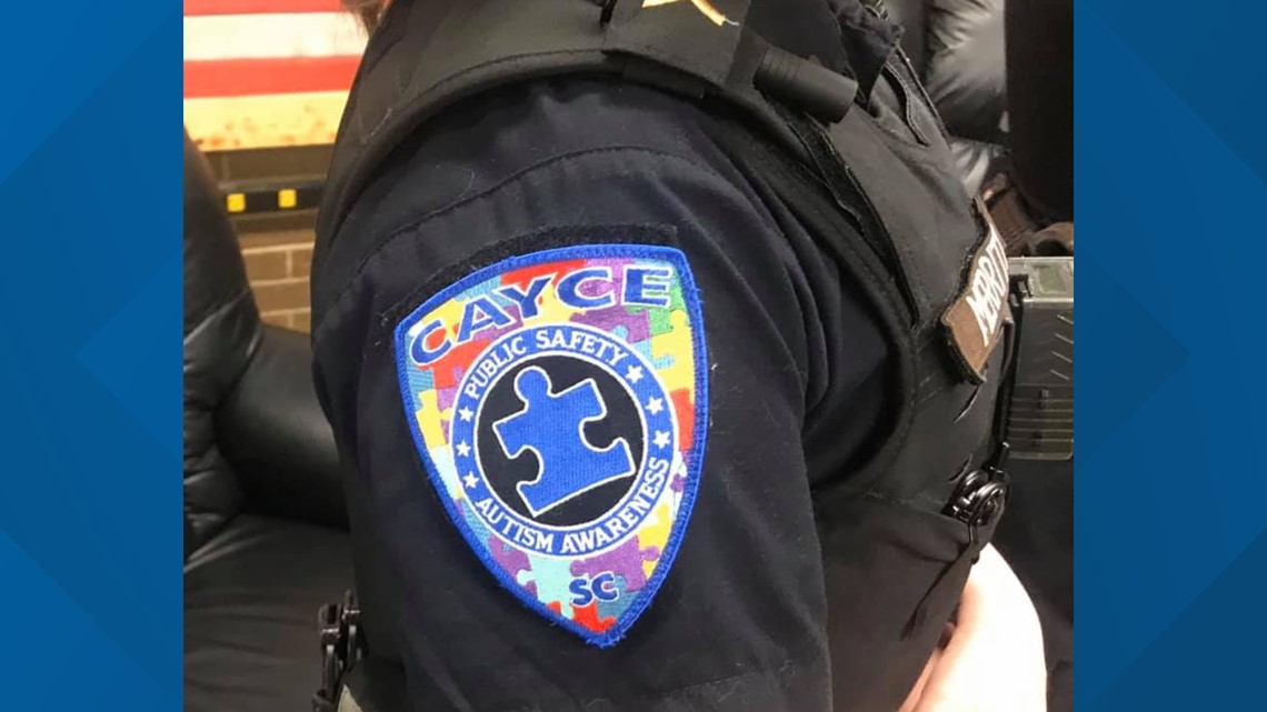 Cayce officers support autism awareness