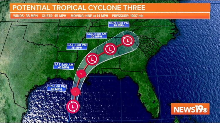 Potential Tropical Cyclone Three pushes north