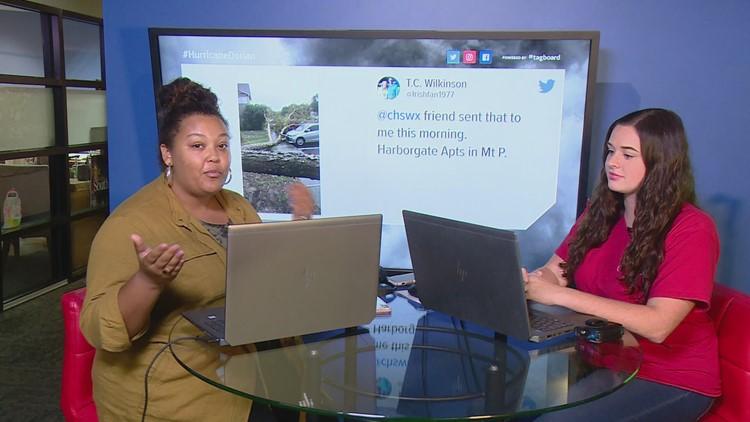 Seeing Hurricane Dorian through social media