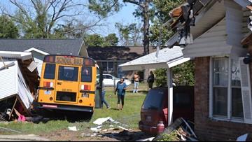 SC school bus slams into home in Sumter