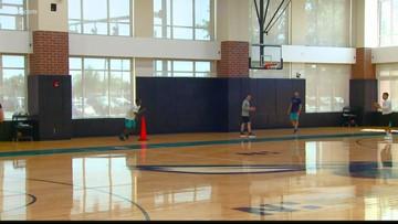 Jalek Felton works out for the Charlotte Hornets