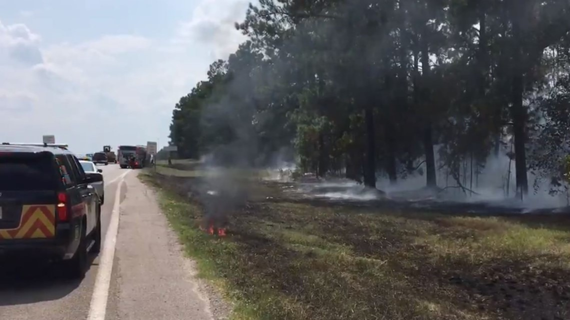 Brush fire along I-20 in Lexington under control