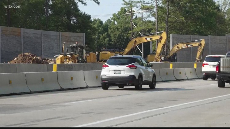 When will I-20 construction in Lexington County be finished?