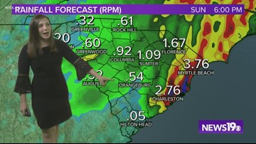 Nestor continuing to bring rain to the Midlands