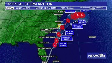 Tropical Storm Arthur forms in the Atlantic, first storm of 2020